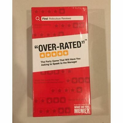 AU30 • Buy Over-Rated By What Do You Meme Party Card Game Brand New