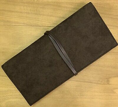 £35.99 • Buy New YSL Wallet Purse Suede Makeup Essentials Bag Clutch Brown Mirror Wallet Gift