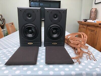 Quality JPW ML-310 Monitor Speakers Bookshelf Black Ash Wood With Wires / Cable • 29.99£