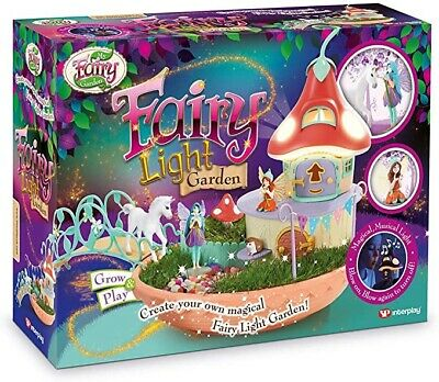 My Fairy Garden Musical Toy Night Light With Bridge. Includes Grass Seeds • 29.95£
