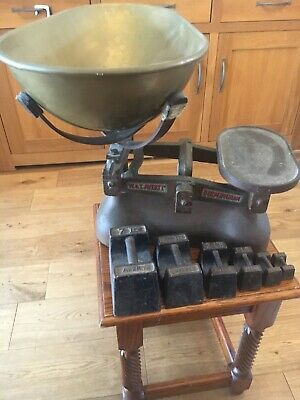 £40 • Buy Vintage Kitchen Weighing Scales With Weights W&T Avery LTD Birmingham