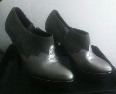 OFFICE LONDON Isabella Pewter Grey Leather And Suede Ladies/Women's High Shoes • 12£