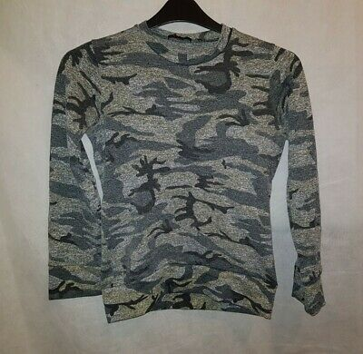 Gorgeous Grey Camouflage Jumper Top Size S • 5£