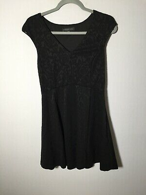 AU24.95 • Buy Forever New Womens Black Textured Fit And Flare Dress Size 10 Sleeveless