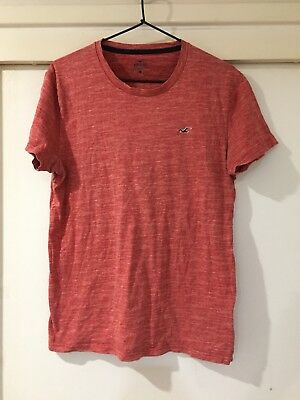 AU16.50 • Buy Hollister Mens Red Basic T Shirt Size S Good Condition