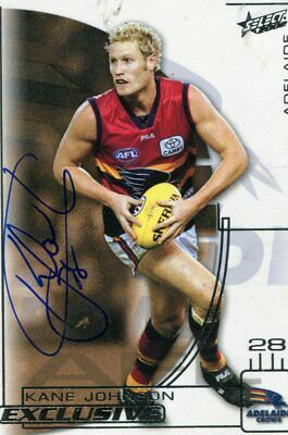AU5 • Buy AFL Select 2002 #114 Adelaide Kane Johnson Autographed Card