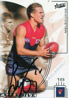 AU5 • Buy AFL Select 2002 #146 Melbourne Brad Green Autographed Card