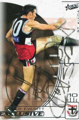 AU5 • Buy AFL Select 2002 #197 Saints Peter Everitt Autographed Card