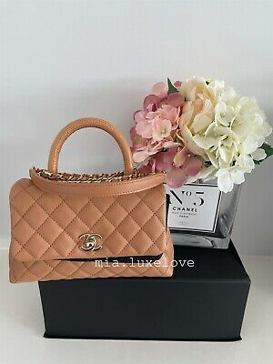 AU6850 • Buy Chanel 21p Caramel Coco Handle Size Small