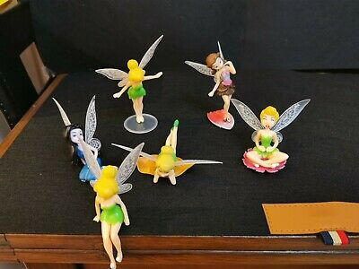 Disney Fairy Princess Set Of 6 Figures Plastic Children's Collectable Toys • 1.20£