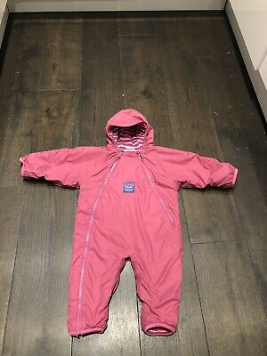 Jojo Maman Bebe Splish Splash Suit Fleece Lined Pink Suit 12-18months • 10£