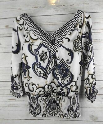 $ CDN9.83 • Buy White House Black Market Smocked Top XS V Neck