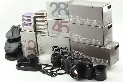 $ CDN5374.02 • Buy [MINT In BOX] Contax G2 Black 28mm F/2.8 45mm F/2 90mm F/2.8 From Japan #OS139