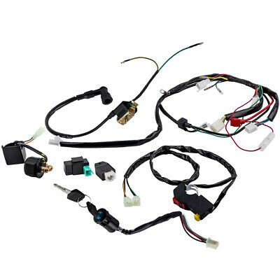 $29.90 • Buy Power Wiring Harness For 50cc 110cc 125cc PIT Quad Dirt Bike ATV Dune Buggy