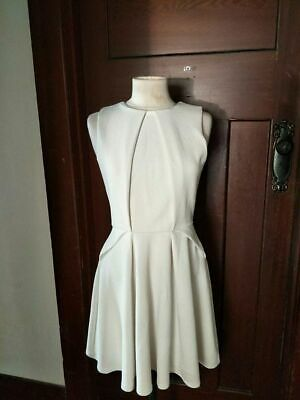 AU10 • Buy Asos White Fit And Flair Fifties Style Sleeveless Dress UK 12