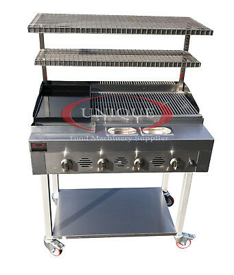 £999 • Buy 4 Burner Gas Charcoal Bbq Grill / Char-grill Heavy Duty For Commercial Use