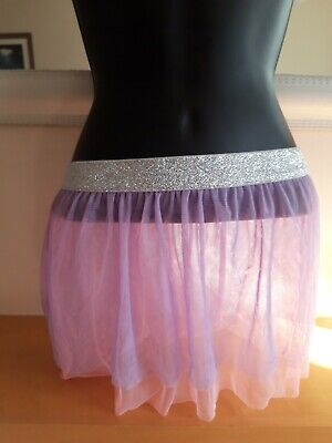 Girls LOL Tutu Dance Skirt Age 7-8 Fits 4-8years Pink And Purple  • 0.99£