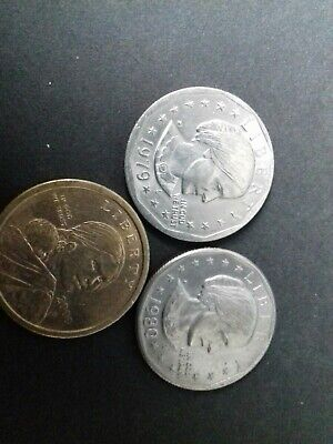 3 X USA Dollar Coins,1979/1980/2000 Susan B Anthony, United States Of America • 3£