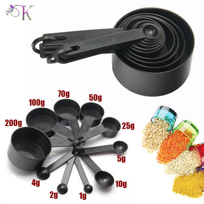£5.49 • Buy 10Pcs Plastic Measuring Cups And Spoons For Baking Tea Coffee Kitchen Tool Set