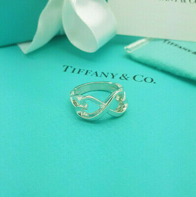 £227.99 • Buy Tiffany & Co. RARE Silver Paloma Picasso Double Heart Ring Size S UK,9US Or 60EU