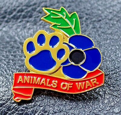 £4.99 • Buy Purple Poppy Remembering Animals Of War Paw Pin Badge We Served Together 2021