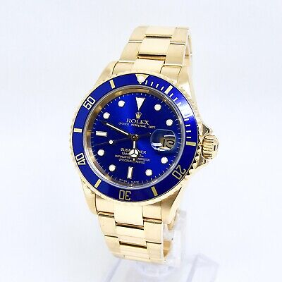 $ CDN42605.94 • Buy Rolex Submariner 16618 Box And Papers 2005 Sunkiss Blue Dial RSC Service 2017