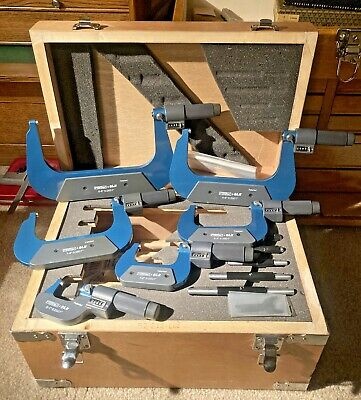 $450 • Buy Fowler 0-6  Digit EZ-Read Outside Micrometer Set 52-222-666 Machinist Tool Maker