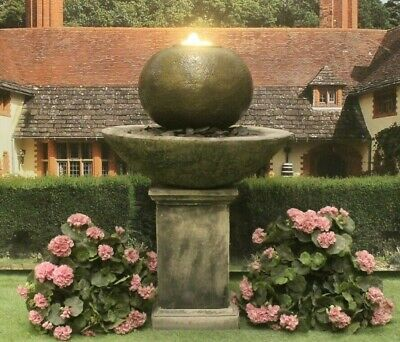 £430.34 • Buy Pation Ball Fountain On Classic Plinth Water Feature Stone Garden Ornament