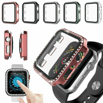 $ CDN4.95 • Buy For Apple Watch Series6 5 4 3 2 1 Bling Protector Case Cover Bumper Screen Frame