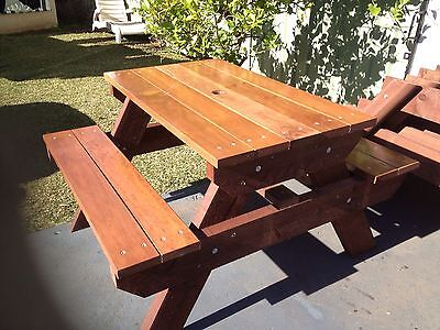 AU495 • Buy Timber Outdoor Setting Picnic Table Brand New 1.2 Metres