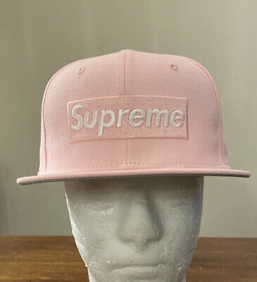 $ CDN124.97 • Buy Supreme Champions Box Logo New Era Pink Hat 7 1/8 Ss21 Week 1 In Hand Authentic