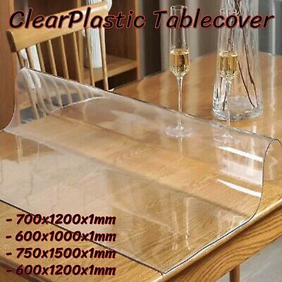 AU29.95 • Buy PVC Crystal Clear Plastic Table Cover Mat Thick For Desk Dining Table