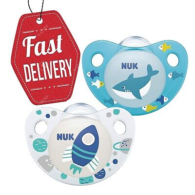 £5.89 • Buy NUK Baby Boy Blue Dummies   BPA Free Orthodontic Soothers   0-6 MONTHS Pack Of 2
