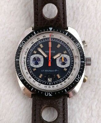$ CDN1381.78 • Buy Vintage Herma Le Bourget Chronograph Valjoux 7734 From 70's