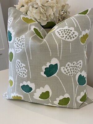 """£7.99 • Buy Country Cream Natural Green Floral Scandi Cushion Cover 16"""" Handmade Leaf Flower"""