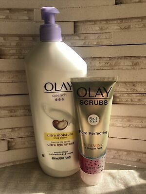 AU30.08 • Buy Olay Quench Ultra Moisture Shea Butter Body Lotion Lot + Dragonfruit Face Scrub