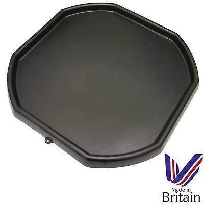 Large Black Plastic Mixing Tray Kids Play Sand Water Builders Spot For Cement • 15.50£