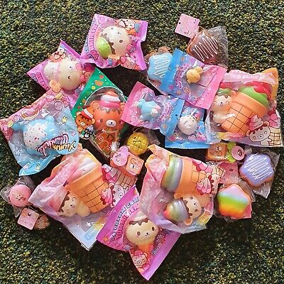 AU55 • Buy 8 PCs Rare Licensed Yummiibear Squishies Kawaii Squishy Squeeze Toy Bag Package