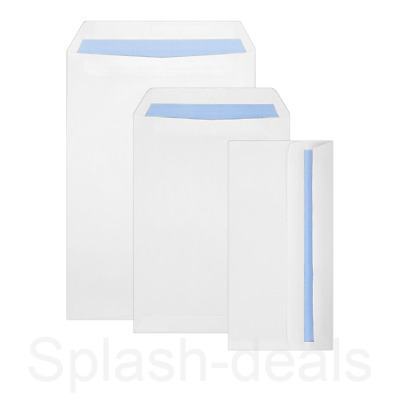 £11.99 • Buy Quality 90 GSM Plain White Envelopes - Strong Self Seal - A4/C4 A5/C5 DL Sizes