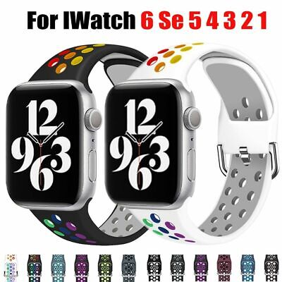 $ CDN7.43 • Buy Soft Silicone Sport Band Strap For Apple Watch Series 1 2 3 4 5 6 SE IWatch 42mm