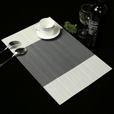 AU10.39 • Buy Washable Non-Slip Kitchen Placemats Rectangle Dining Table Place Mats HW