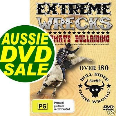 AU20 • Buy BULL RIDING Rodeo 180 RIDES GONE WRONG (8 Seconds) Extreme Wrecks DVD BullRiding