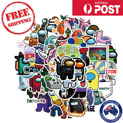 AU3.95 • Buy 50pcs Among Us Pack1 Video Game VSCO Stickers Bomb Vinyl Decal Laptop