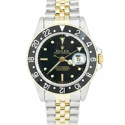 $ CDN10875.52 • Buy Vintage 1981 Rolex GMT-Master Black Two-Tone Gold Nipple Dial 16753 Watch 1675