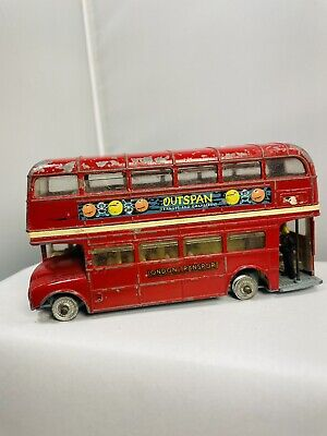 "$ CDN12.54 • Buy Vintage Corgi Toys Outspan London Transport Routemaster Double Decker 4.5"" Bus"