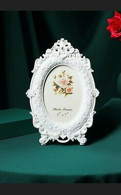 £7.99 • Buy Shabby Chic Photo Frame Vintage French Ornate Baroque Rococo Weddng Oval Antique