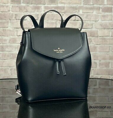 $ CDN150.37 • Buy KATE SPADE NEW YORK LIZZIE LEATHER MEDIUM BACKPACK SHOULDER BAG PURSE $329 Black