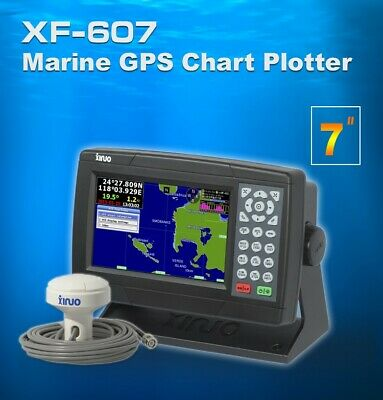 £231 • Buy XINUO 7  Inch Color LCD Marine GPS Chart Plotter XF-607 Support C-map SD