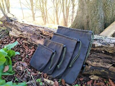 £14 • Buy Large Bushcraft Waxed Cotton Bags Canvas Ditty Bag Waterproof Stuff Sack Green