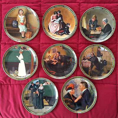 """$ CDN62.77 • Buy Norman Rockwell """"American Dream Series"""" Collector Plates - Complete Set Of 8"""